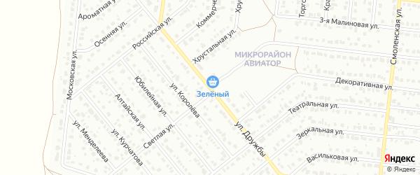 Светлая улица на карте садового некоммерческого товарищества Полета с номерами домов