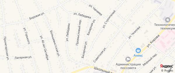 Базарная улица на карте поселка Тальменки с номерами домов