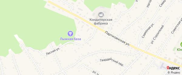 Солнечный переулок на карте поселка Тальменки с номерами домов