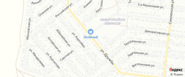 Улица Дружбы на карте Барнаула с номерами домов