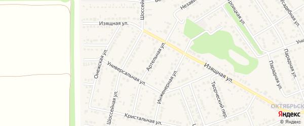 Артельная улица на карте села Власихи с номерами домов
