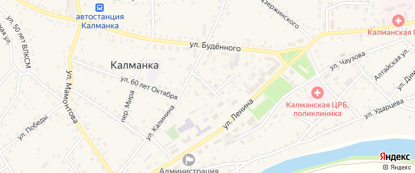 Октябрьская улица на карте села Калманки с номерами домов