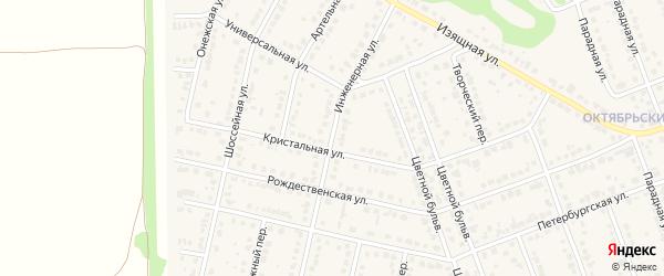 Инженерная улица на карте села Власихи с номерами домов