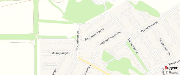 Беловежская улица на карте села Власихи с номерами домов