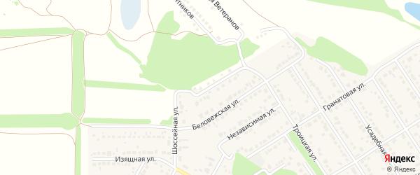 Меридианная улица на карте села Власихи с номерами домов