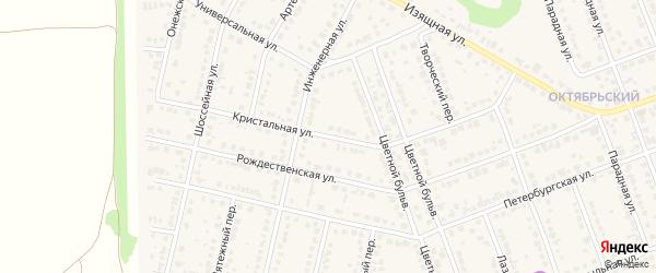 Кристальная улица на карте села Власихи с номерами домов