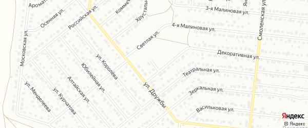 Институтский переулок на карте Барнаула с номерами домов