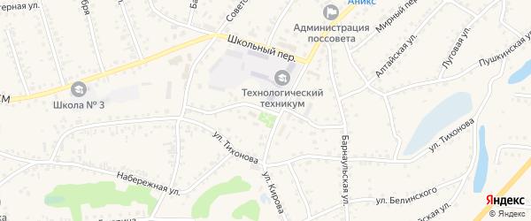 Пожарный переулок на карте поселка Тальменки с номерами домов