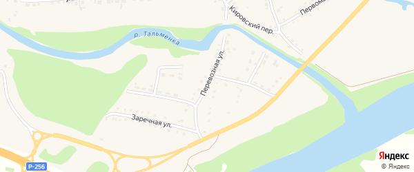 Перевозная улица на карте поселка Тальменки с номерами домов