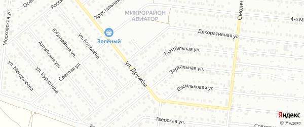 Театральная улица на карте Барнаула с номерами домов