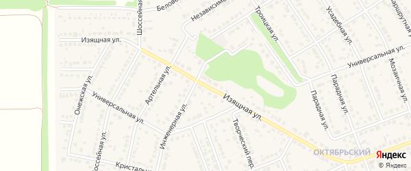 Изящная улица на карте села Власихи с номерами домов