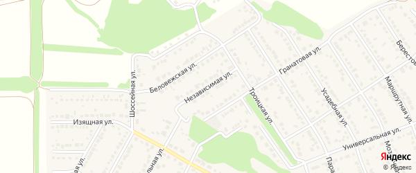 Независимая улица на карте села Власихи с номерами домов