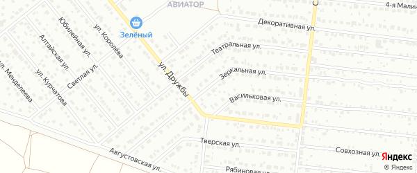 Зеркальная улица на карте Барнаула с номерами домов
