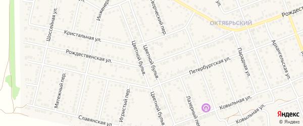 Цветной бульвар на карте села Власихи с номерами домов