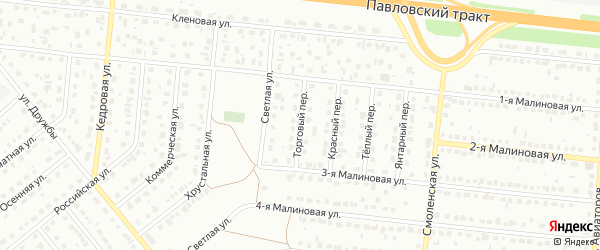 Торговый переулок на карте Барнаула с номерами домов