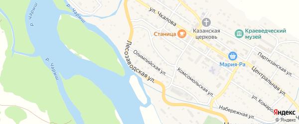 Олимпийская улица на карте Чарышского села с номерами домов