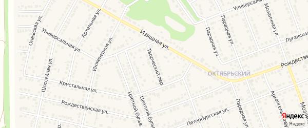 Творческий переулок на карте села Власихи с номерами домов