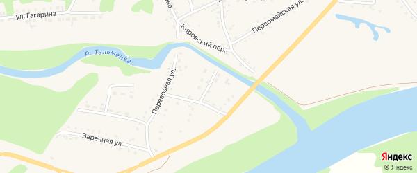 Улица Осинцева на карте поселка Тальменки с номерами домов