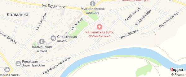Молодежный переулок на карте села Калманки с номерами домов
