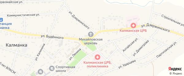 Переулок Маяковского на карте села Калманки с номерами домов