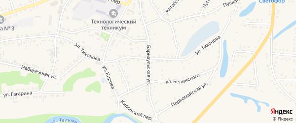 Барнаульская улица на карте поселка Тальменки с номерами домов
