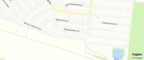 Рябиновая улица на карте садового некоммерческого товарищества Сельского строителя с номерами домов