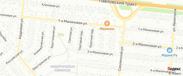 Красный переулок на карте Барнаула с номерами домов