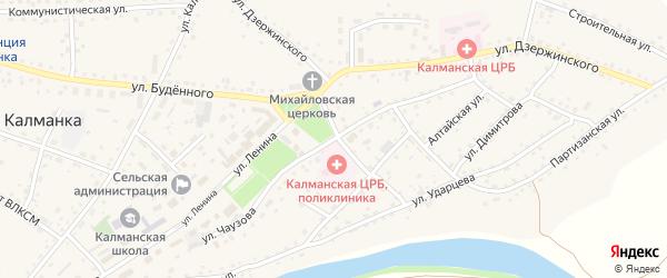 Улица Чаузова на карте села Калманки с номерами домов