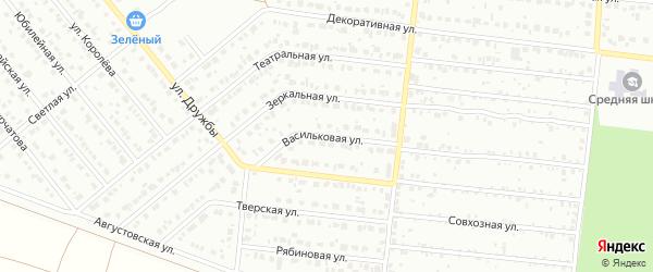Васильковая улица на карте Барнаула с номерами домов