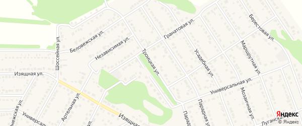 Троицкая улица на карте села Власихи с номерами домов