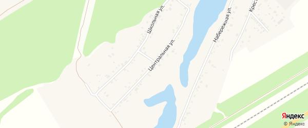 Центральная улица на карте поселка Черницка с номерами домов