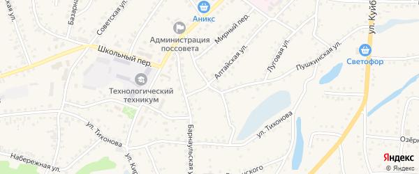 Кустарная улица на карте поселка Тальменки с номерами домов