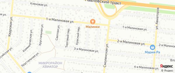 Теплый переулок на карте Барнаула с номерами домов