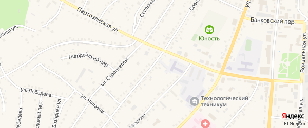 Советская улица на карте поселка Тальменки с номерами домов