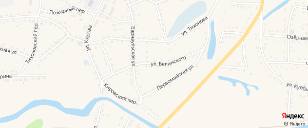 Улица Белинского на карте поселка Тальменки с номерами домов