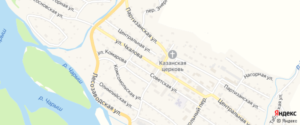 Улица Чкалова на карте Чарышского села с номерами домов