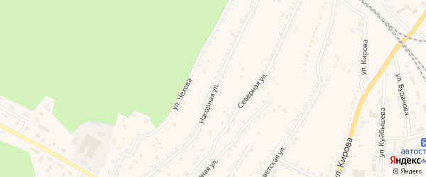 Нагорная улица на карте поселка Тальменки с номерами домов