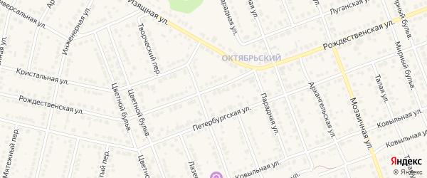 Рождественская улица на карте села Власихи с номерами домов