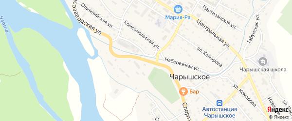Спортивная улица на карте Чарышского села с номерами домов