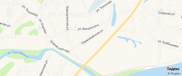 Первомайская улица на карте поселка Тальменки с номерами домов