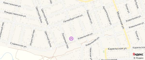 Преображенская улица на карте села Власихи с номерами домов
