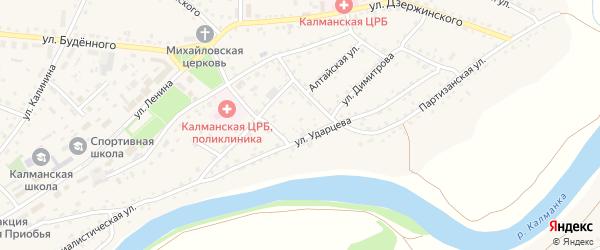 Улица Пушкина на карте села Калманки с номерами домов