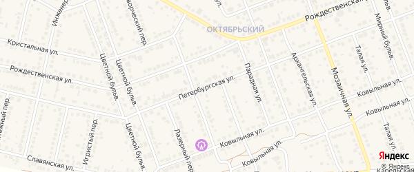 Петербургская улица на карте села Власихи с номерами домов