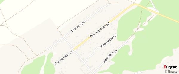 Пионерская улица на карте поселка Черницка с номерами домов