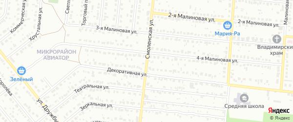 Смоленская улица на карте Барнаула с номерами домов