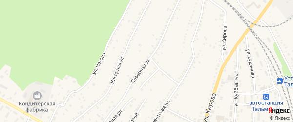 Северная улица на карте поселка Тальменки с номерами домов