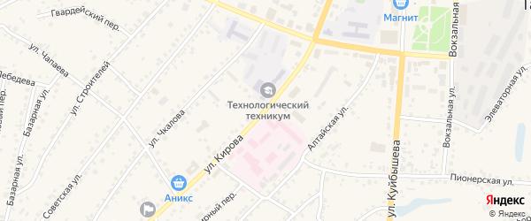 Улица Кирова на карте поселка Тальменки с номерами домов