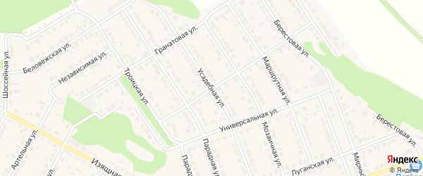 Усадебная улица на карте села Власихи с номерами домов
