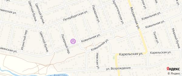 Невская улица на карте села Власихи с номерами домов