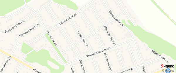 Демократическая улица на карте села Власихи с номерами домов